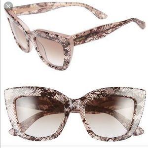 Valentino brown lace sunglasses